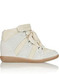 Isabel Marant Bluebel Suede Wedge Sneakers