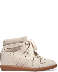 Bobby suede wedge sneakers beige medium 953940