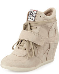 Ash Bowie Suede Wedge Sneaker Clay