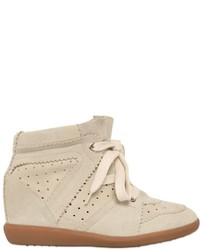 Isabel marant etoile 80mm bobby suede wedge sneakers medium 627702