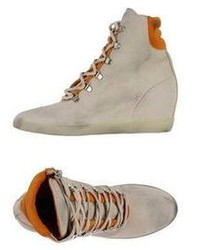 Leather Crown High Tops Trainers