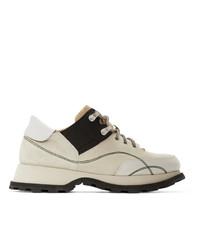 Jil Sander Grey Lace Up Boots