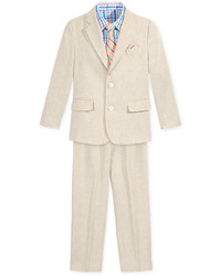 Nautica 4 Pc Herringbone Linen Suit Set Toddler Little Boys