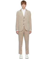 Brunello Cucinelli Beige Corduroy Cashmere Suit