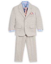Nautica Four Piece Herringbone Linen Suit Set