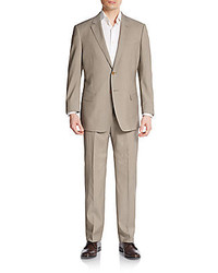 Regular fit tonal striped virgin wool suit medium 220436