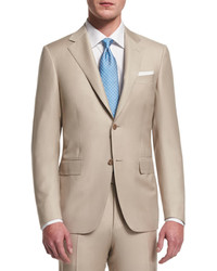 Sienna contemporary fit solid two piece suit tan medium 578609