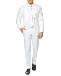 OppoSuits White Fit Two Piece Suit With Tie