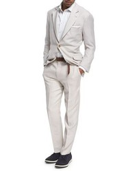Brunello Cucinelli Wool Silk Linen Deconstructed Suit