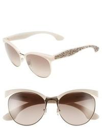 Miu Miu 56mm Pave Cat Eye Sunglasses Beige Mix