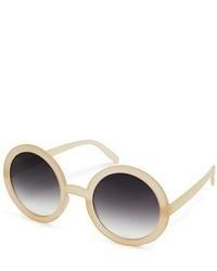 Asos Nude Round Sunglasses Beige
