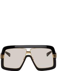 Gucci Black Yellow Square Sunglasses