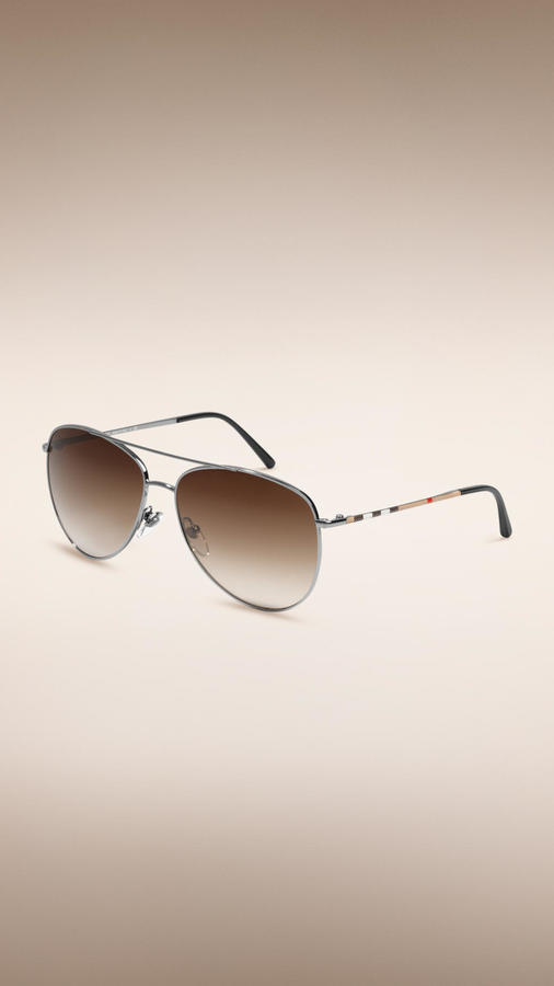 Where To Sunglasses  burberry check arm aviator sunglasses where to how to wear