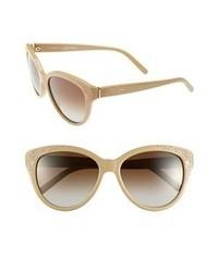Chloé Chloe Suzanna 56mm Cat Eye Sunglasses Beige One Size