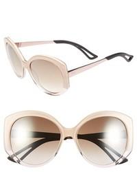 Christian Dior Dior Extase 1 58mm Oversized Sunglasses Olive Rose Gold
