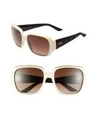Dior Classic 57mm Sunglasses Beige One Size