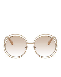 Chloé Gold Carlina Sunglasses