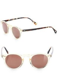 Oliver Peoples Gregory 47mm Round Sunglasses