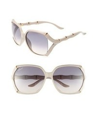 Gucci 58mm Oversized Sunglasses Beige One Size