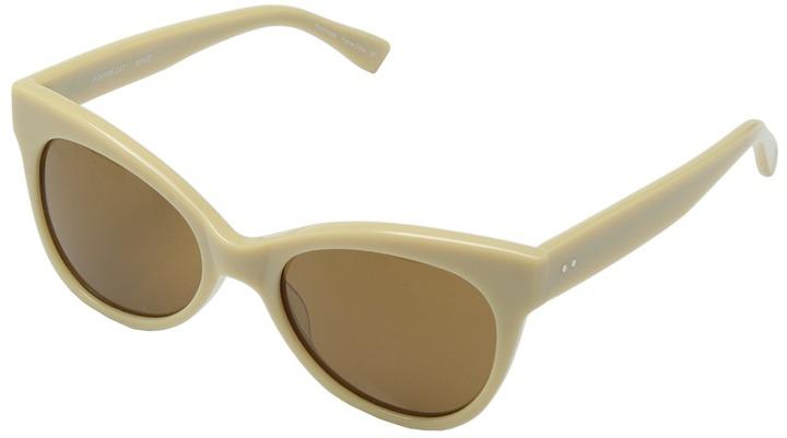 0aeeafefea25ea ... Beige Sunglasses Norma Kamali Kamalikulture By Square Cat Eye Sunglasses  Plastic Frame Fashion Sunglasses ...