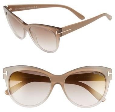 8a3a7826e2f7 ... Tom Ford Lily 56mm Cat Eye Sunglasses ...