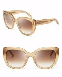 Saint Laurent Oversized Cat Eye Sunglasses