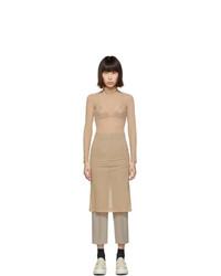 MM6 MAISON MARGIELA Beige Turtleneck Dress
