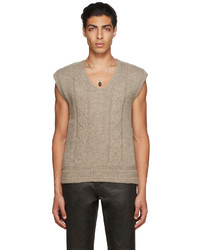 Our Legacy Wool Reversed Cable Vest