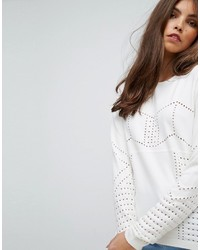 Asos Sweater With Pointelle Stitch Detail
