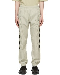Off-White Beige Diag Lounge Pants