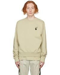 Off-White Beige Bubble Arrows Sweatshirt