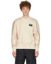 Alexander McQueen Beige Jersey Graffiti Badge Sweatshirt