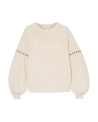 The Great The Bishop Studded Cotton Jersey Sweatshirt