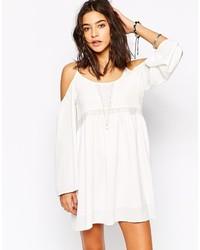 Lira bell sleeve festival swing dress with cut out shoulder detail medium 269588
