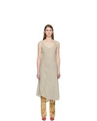 Acne Studios Beige Crepe Dinah Dress