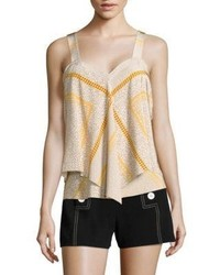 Derek Lam 10 Crosby Tiered Marigold Cami Top