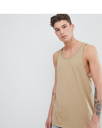 ASOS DESIGN Tline Skater Fit Vest In Beige