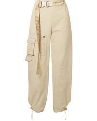 Fendi Cotton Blend Drill Tapered Pants
