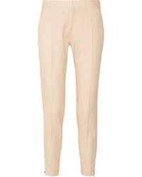 Stella McCartney Vivian Wool Twill Tapered Pants Sand
