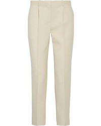 William wool blend canvas tapered pants ecru medium 4413147