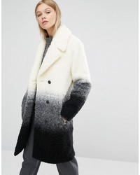 NATIVE YOUTH Boucle Textured Gradient Overcoat