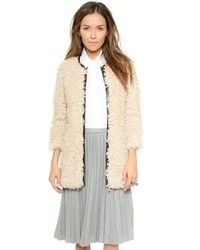 Beige Textured Coat