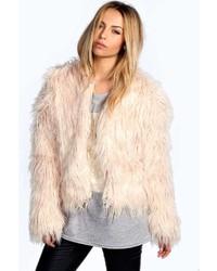 Boohoo Aimee Shaggy Faux Fur Coat