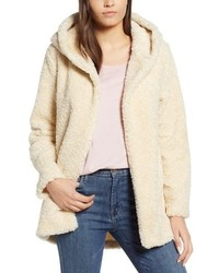 Dylan Hooded Faux Fur Jacket