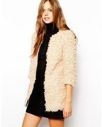 Unreal Fur Faux Sure Coat Sand