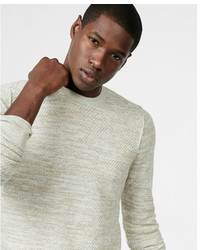 Express Textured Crew Neck Sweater