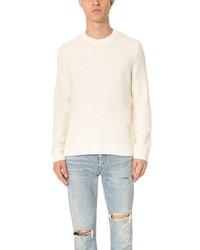 Textured crew neck sweater medium 956619