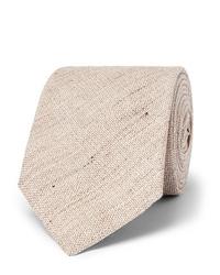 Kingsman Drakes 8cm Mlange Linen And Silk Blend Tie