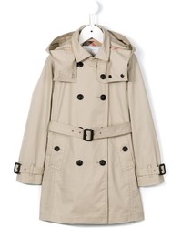 Burberry Kids Hooded Trench Coat