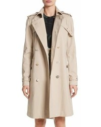 ADAM by Adam Lippes Adam Lippes Embellished Button Trench Coat